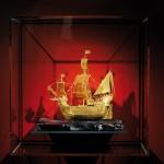 Die SANTA MARIA des Christoph Columbus aus purem Gold in der Schatzkammer auf Deck 8. ©Michael Zapf