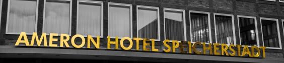 Schriftzug Ameron Hotel Speicherstadt Hamburg