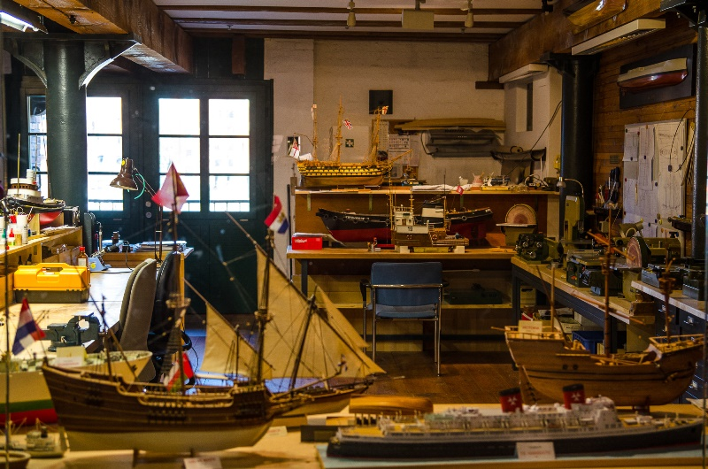 Modellbauwerkstatt im Maritimen Museum