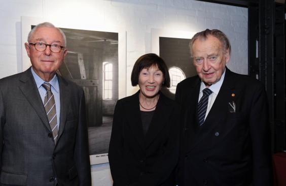 V. l. n. r.: Bauunternehmer Karl-Otto Wulff, Architektin Mirjana Markovic und Prof. Peter Tamm.