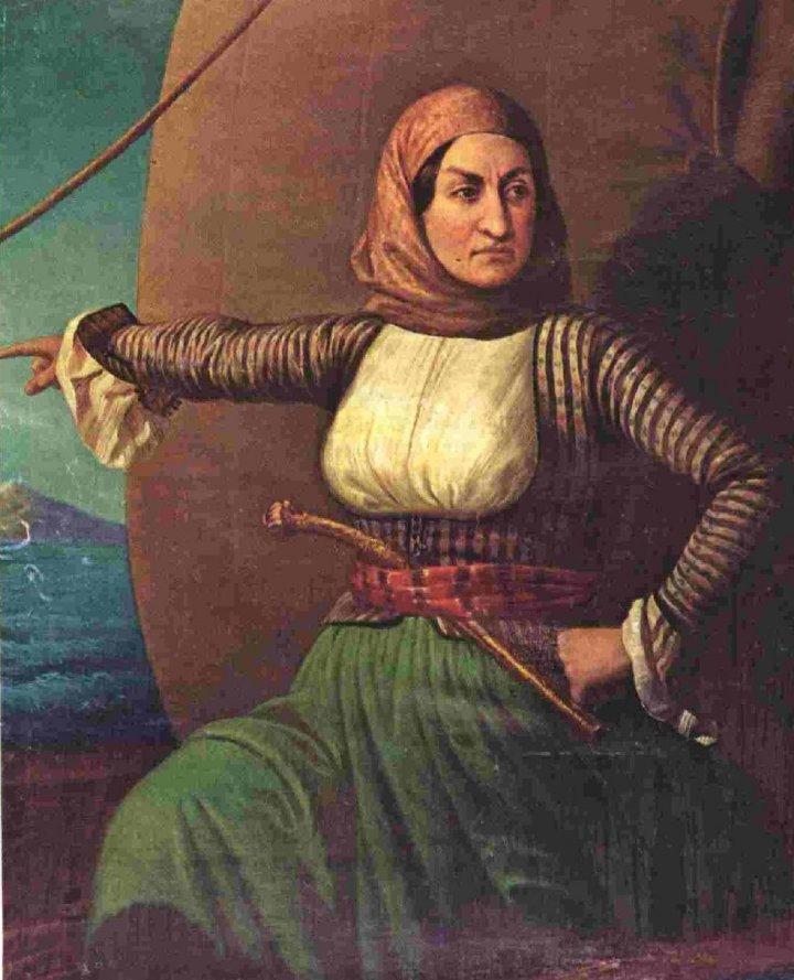 Die griechische Heldin Laskarina Bouiboulina (Ölgemälde, Nationales Historisches Museum, Athen)