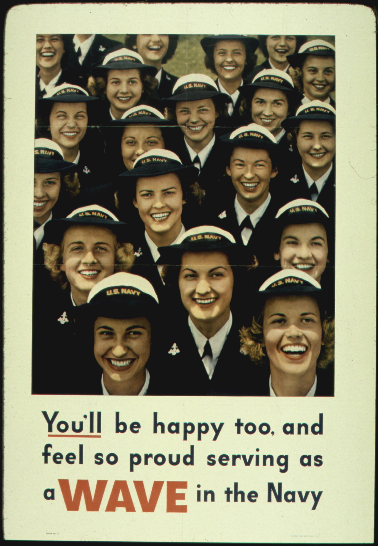 """Recruiting poster, U.S. Navy """"WAVES"""" (World War II)"""