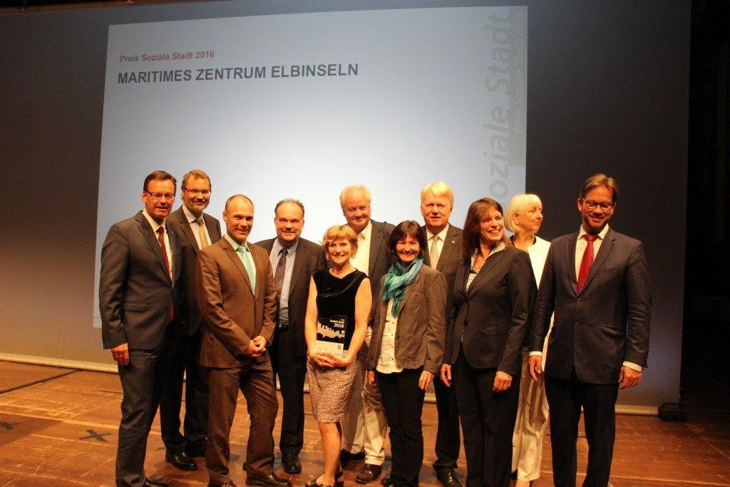 """Die Preisverleihung """"Soziale Stadt"""" fand am 22. Juni 2016 statt."""