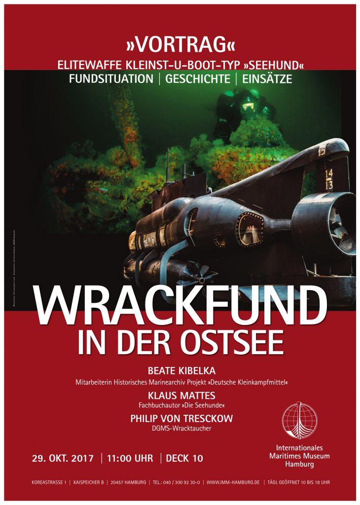 Wrakfund Ostsee u-boot Vortrag Internationales Maritimes Museum Hamburg Unterwasserarchäologie Weltkrieg Kriegsmarine