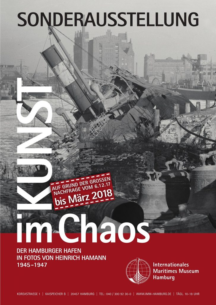 Kunst Kaos Plakat Sonderausstellung Hamburger Hafen Weltkrieg Hamann Internationales Maritimes Museum Hamburg