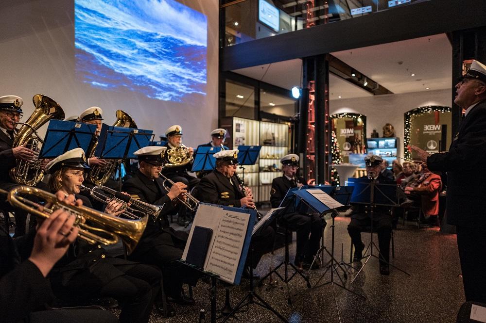Marineorchester Reservisten Nikolausumtrunk Marschmusik Blasmusik Internationales Maritimes Museum Hamburg