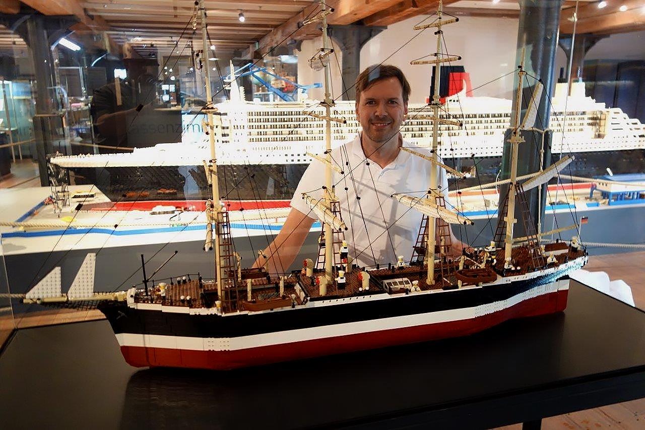 Lego Peking Ausstellung Internationales Maritimes Museum Hamburg Schiff Schifffahrt Modellschiff Deck 1 Flying P-Liner F Laeisz Jens Georg Feierabend