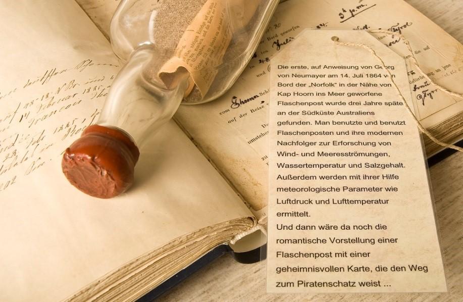 Pressebild Bark Paula Meteorologische Journal Flaschenpost DWD Bark Paula Schifffahrt Deutsche Wetterdienst Internationales Maritimes Museum Hamburg Schiff Reiseroute Karte