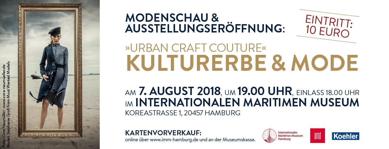 AMD Mode Design Akademie Modedesign Maritime Kulturerbe und Mode Urban Craft Couture Elbstrand Fotographie Cora Neumüller Internationales Maritimes Museum Hamburg Ausstellung Fashionshow Modeschau