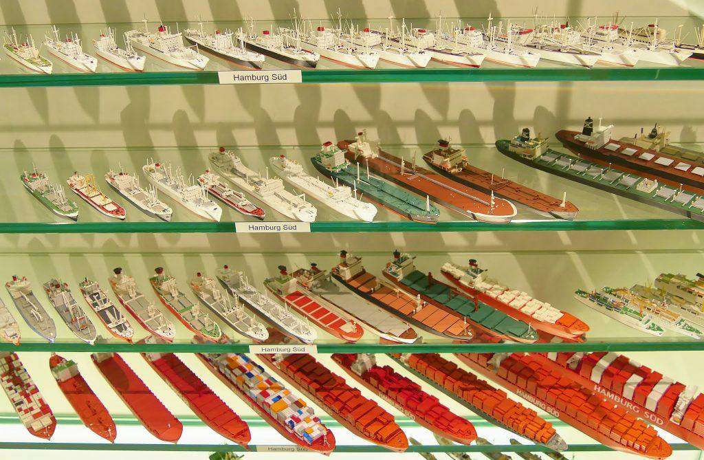 Internationales Maritimes Museum Hamburg Süd Reederei Schiffsminiaturen Miniaturen Reederei Schifffahrt Pressemitteilung Frachtschiff Containerschiff Schifffahrt Schiffsmodelle Modelle Modellbau Shipping Ship freighter cargoship containership