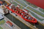 Kooperation Hamburg Süd Ausstellung Internationales Maritimes Museum Hamburg Reederei Schifffahrt Geschichte Schiffsmodell Miniatur Schiff Containerschiff Ship Cargoship Container Shipping Panama Canal Gatún Modelling History