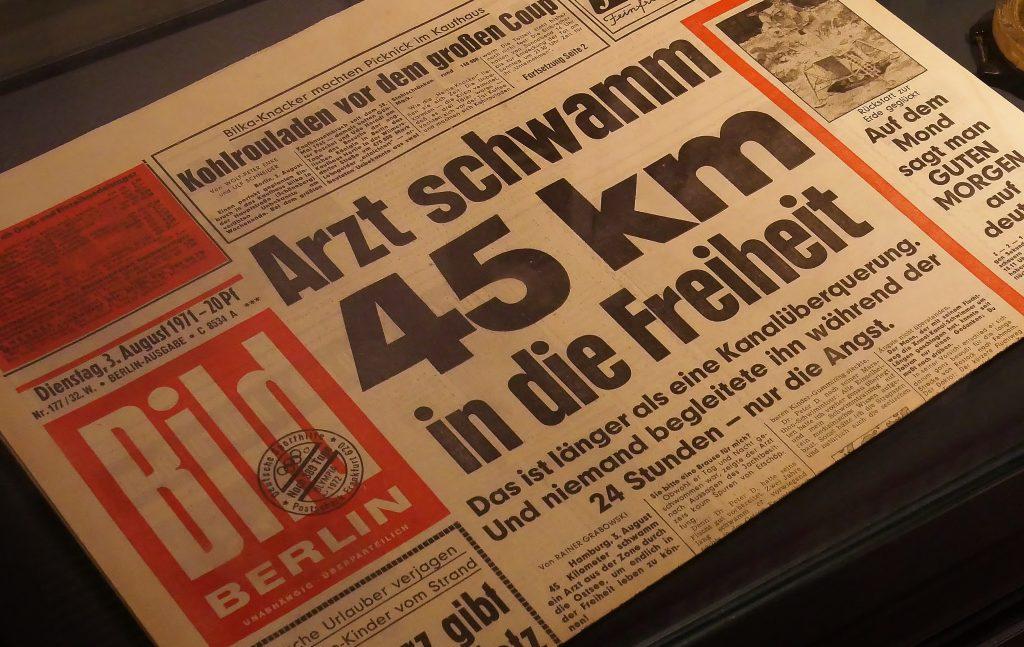Die BILD Zeitung berichtete 1971 über Dr. Peter Döblers Flucht aus der DDR. Dr. Döbler wird am 17. September im Museum seine Geschichte persönlich erzählen.
