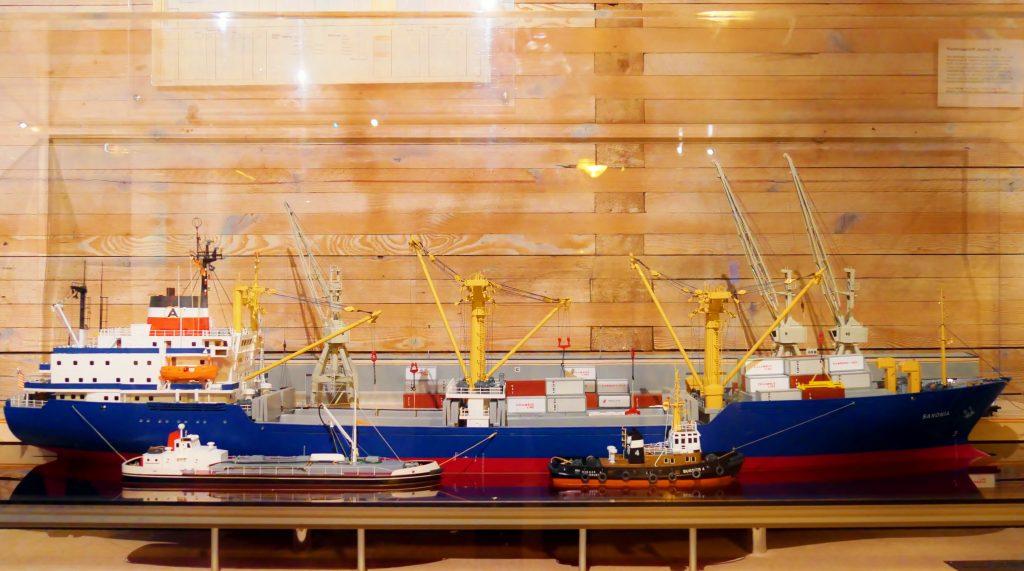Schifffahrt und Logistik, auf Deck 6 im Internationalen Maritimen Museum Hamburg.
