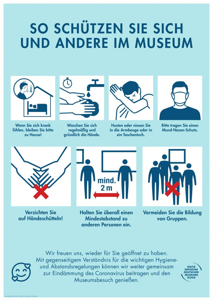 Beschreibung der Hygienemaßnahmen für die Wiedereröffnung des Internationalen Maritimen Museum Hamburg während die Coronavirus / COVID-19 Pandemie und Krise.