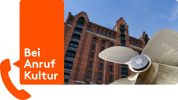 Bei Anruf Kultur, Telefonische Führungen im Internationalen Maritimen Museum Hamburg.