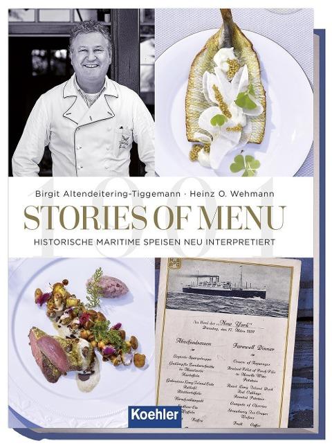 """Cover des Busches """"Stories of Menu -Historische Speisekarten neu Interpretiert."""