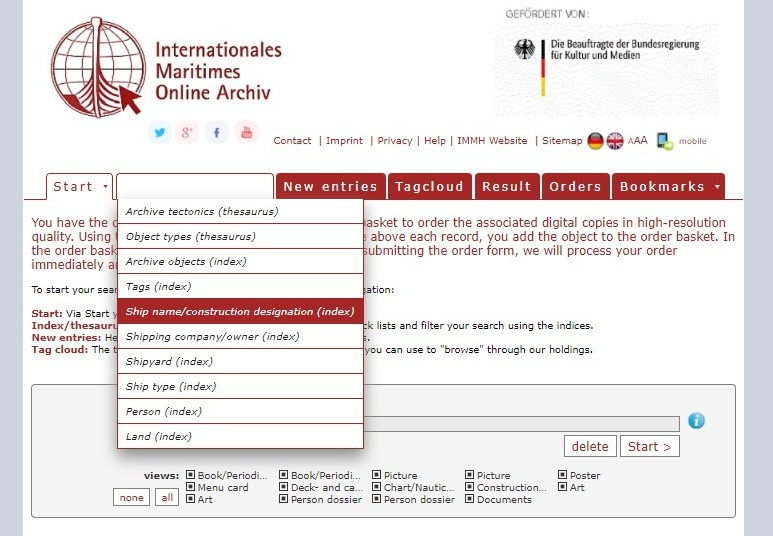 Manual for the Online Archive. Image 1.