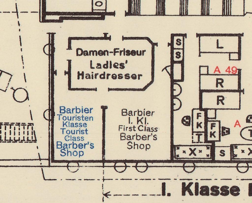 """Decksplan des Doppelschraubenpostdampfer """"Hamburg"""" (R-1-2036) im Online Archiv des Internationales Maritimes Museum Hamburg."""