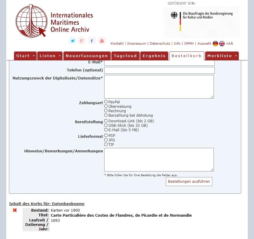Anleitung für das Online-Archiv. Abbildung 4.