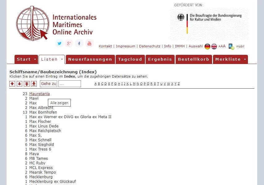 Anleitung für das Online-Archiv. Abbildung 2