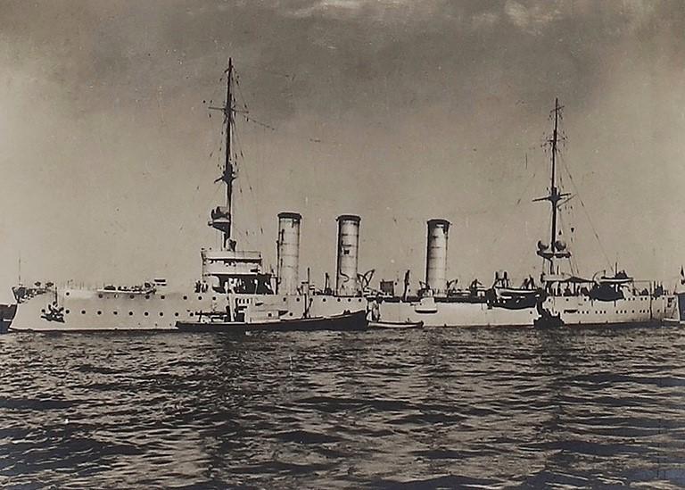 Ausschnitt einer Postkarte von 1916 von der SMS Stuttgart aus unserer Sammlung von Marineschiffspost.
