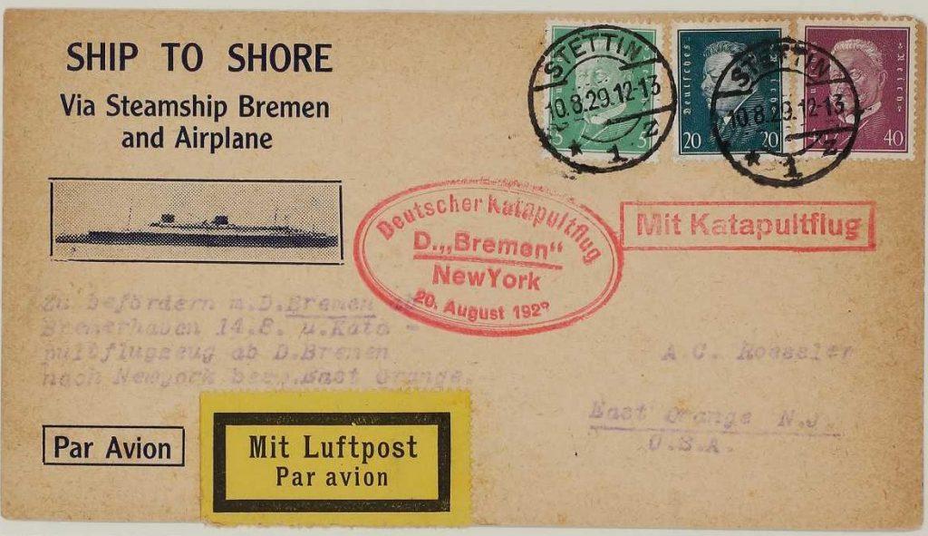Marineschiffspost aus der Sammlung des Internationalen Maritimen Museum Hamburg.